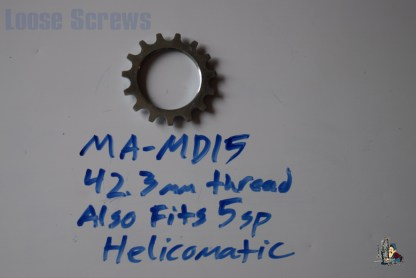 "Maillard 700 Freewheel ""MD"" 5 speed 15T threaded Cog, 5 speed Helicomatic"