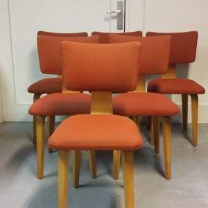 6 stoelen Design Cor Alons voor Lutjens den Boer