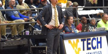 WVU Tech head coach James Long look on from the sidelines during a game in Beckley. (Photo courtesy of WVU Tech athletics)