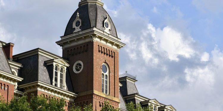 Woodburn Hall as seen Wednesday, July 14, 2021. (WVU Photo/Jennifer Shephard)