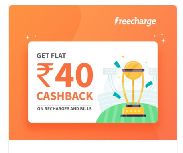 Freecharge Offer July 2019 - Get Free Rs 40 Cashback On Rs