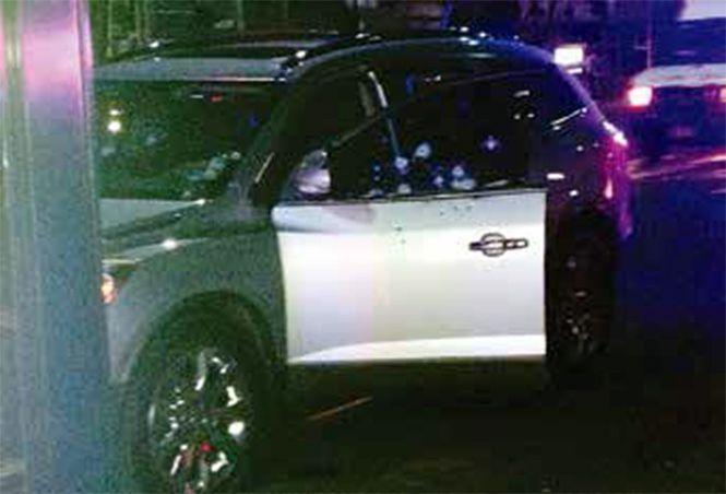 Camioneta Buick en la que se transportaba Rigoberto Santos en Iztacalco. Foto de Excélsior