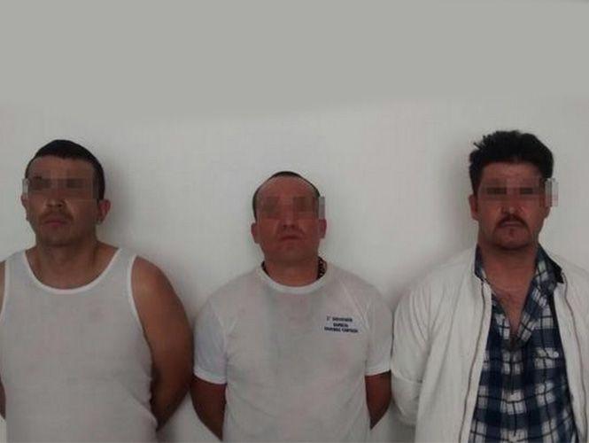 Imagen de los tres asaltantes de cuentahabientes. Foto de Excélsior.