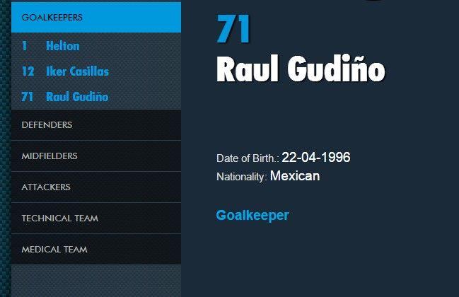Raúl Gudiño usará el número 71.
