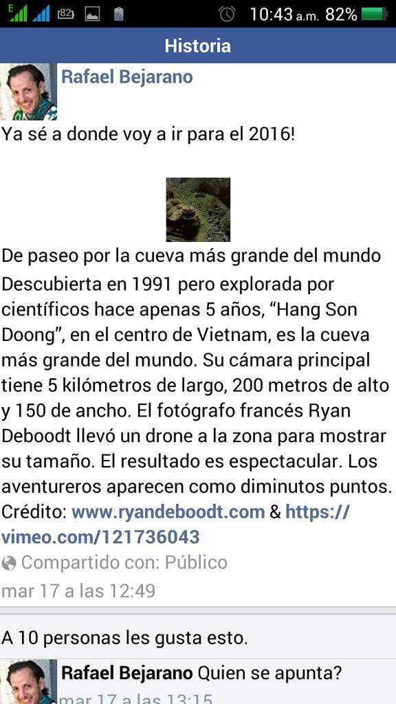 Rafael Bejarano planeaba viajar a Vietnam en 2016. Foto de Facebook