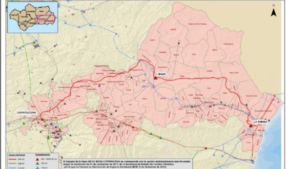 Reunión decepcionante para la construcción de la línea eléctrica Caparacena-Baza-La Ribina