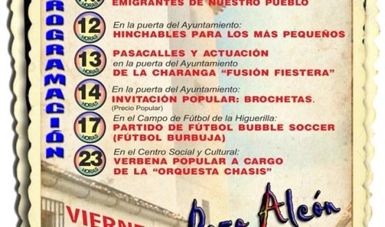 Este viernes, fiesta local dedicada al emigrante