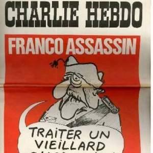 El número 1 de la revista #CharlieHebdo publicada en 1970 estaba dedicada al Dictador Franco