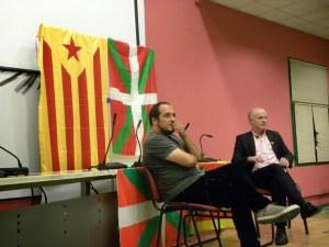 Martxelo junto a David Fernández en un acto en Madrid