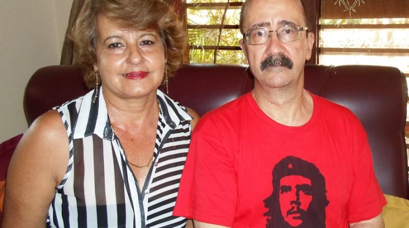 Bárbara, con el autor de la entrevista