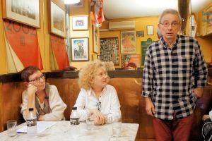 EEn una de las presentaciones del libro, la autora junto a la historiadora Mirta Núñez y el edito Manuel Blanco