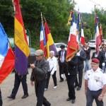 Homenaje a los guerrilleros españoles en Prayols, Francia