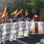 Donostia marcha a favor del proceso catalán