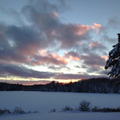 winter sunset ig