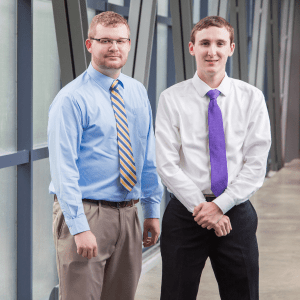 two guys standing