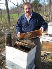 byron & honey bee hive