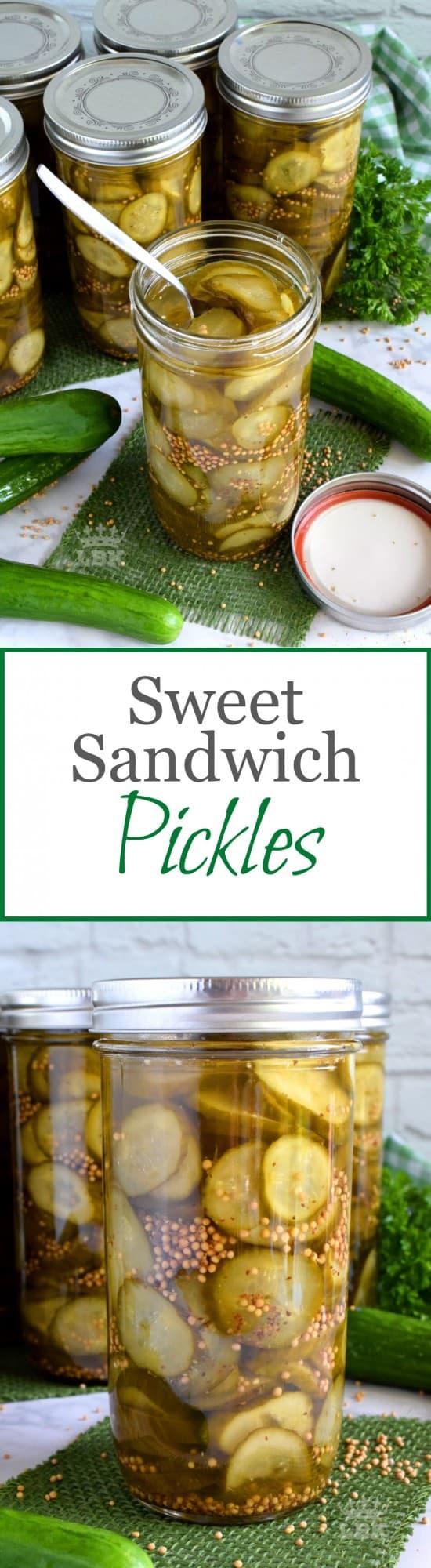 Sweet Sandwich Pickles