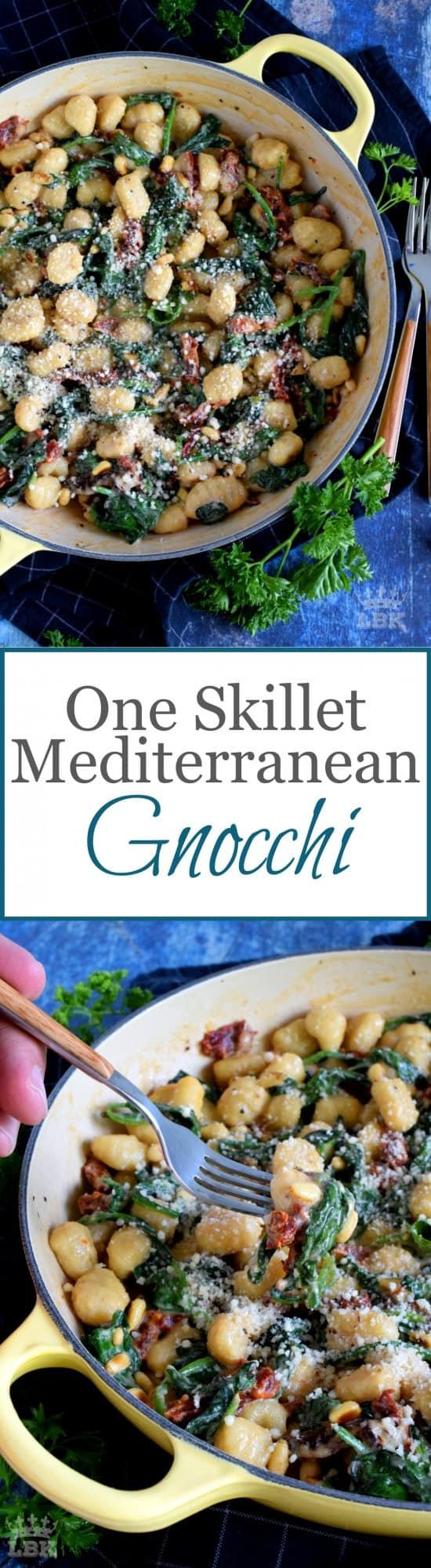 One Skillet Mediterranean Gnocchi