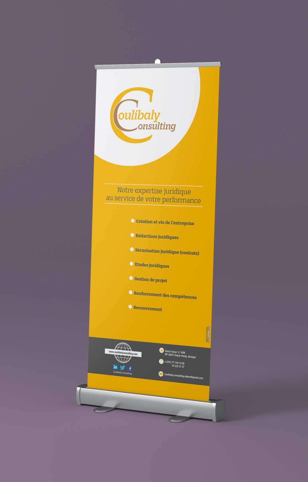 RollUP / kakemono - COULIBALY CONSULTING