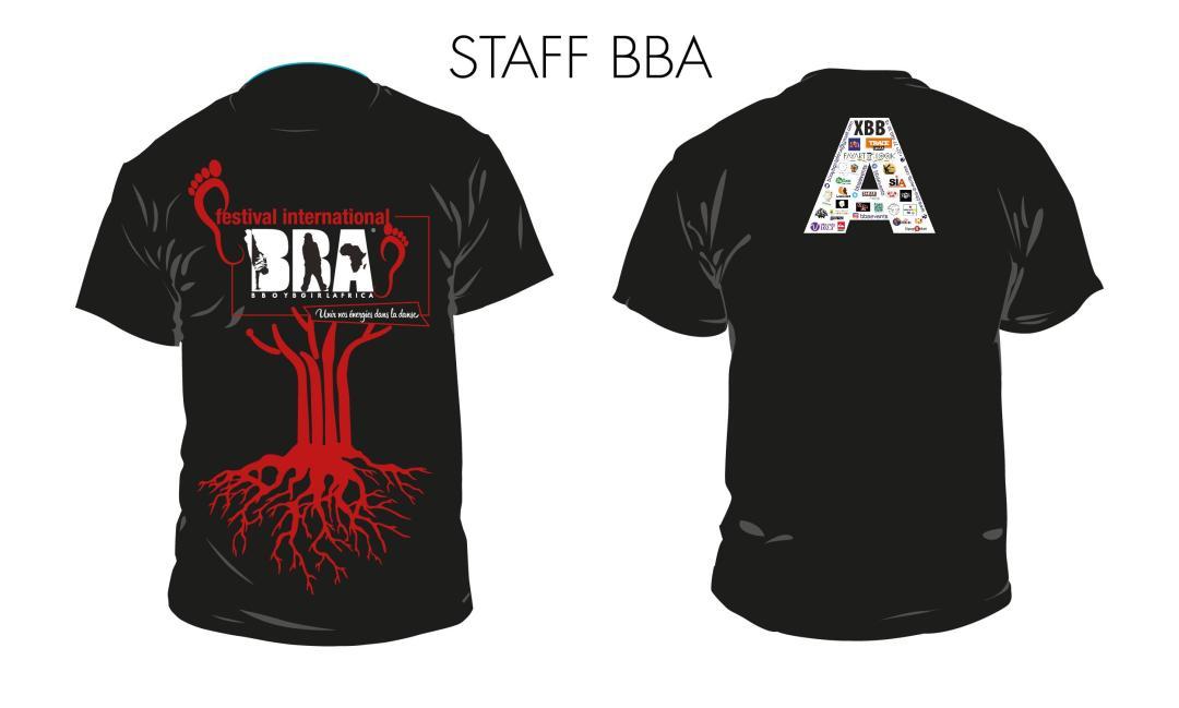 2-Tshirt Noire Staff - FIBBA
