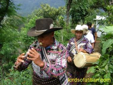 Procession, Fiesta of San José, Mar. 19th, Colonia Pampojilá, San Lucas Tolimán