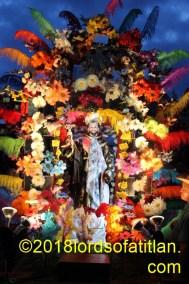 San Francisco de Asís (St. Francis of Assisi), but illuminated at night.. Oct. 4th, Panajachell.
