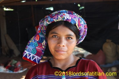 This woman lives in  Santa Cruz Cajolá, Champerico, but she was born in Cajolá Quetzaltenango. However, Guaremala gave her and her community land in Champerico as part of the Peace Accords after the Civil War.
