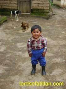Boy from Chui Solís in the rainy season