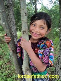This young girl is happy to live in the Victoria, San Andrés Semetabaj. A few weeks earlier, however, she had seen the complete destruction of her birthplace Panimaché Tercero, Chichicastenango at the hands of Tropical Storm Agatha.
