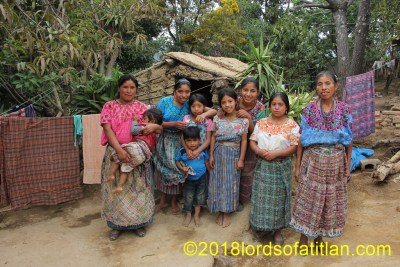 This family from Tzancorral, San Antonio Palopó is united but hopelessly poor. Most men from  Tzancorral have emigrated to Santa Barbara California forced out by  economic necessity
