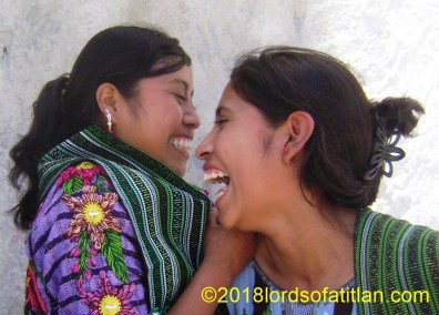 Happy girls from Tzanchaj, Santiago Atitlán