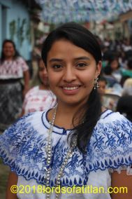 Nancy Graciela, indigenous queen of San Pedro la Laguna 2009 and therefore a tzutujil speaker. She also won a cargo at the national level and is now an attorney.