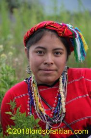 Girl from Huitán, Quetzaltenango, who therefore speaks mam.