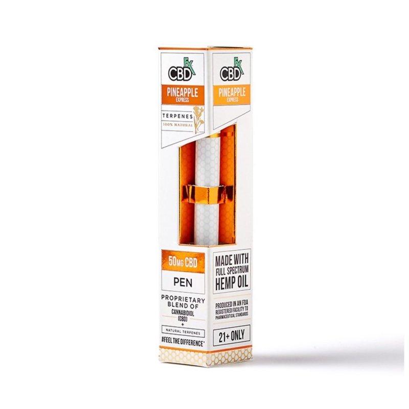CBDfx CBD Terpenes Vape Pens with 50mg broad-spectrum CBD and Pineapple Express terpenes