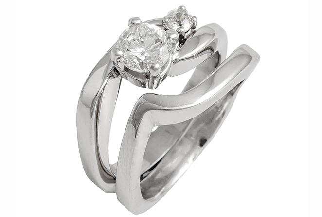 Double Diamond Wedding Set