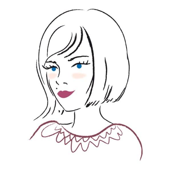 illustration jeune femme feminine