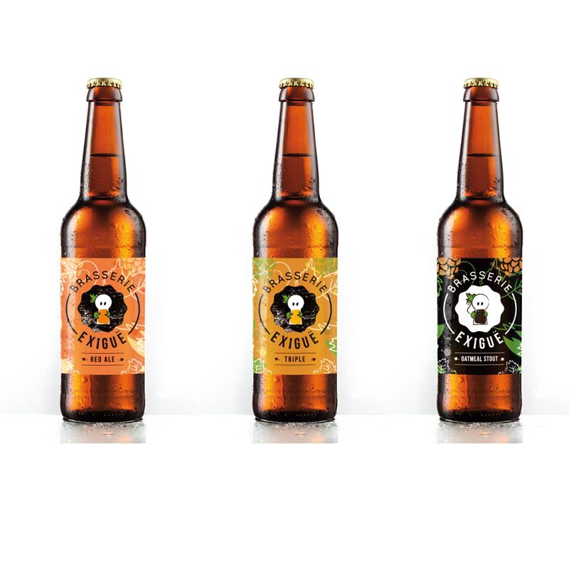 declinaisons graphiques des étiquettes de biere brasserie exigue