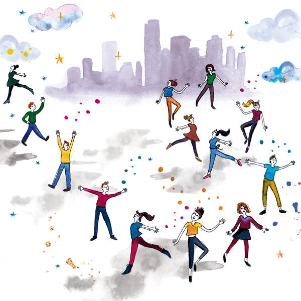 illustration sur-mesure pour une compagnie de danse