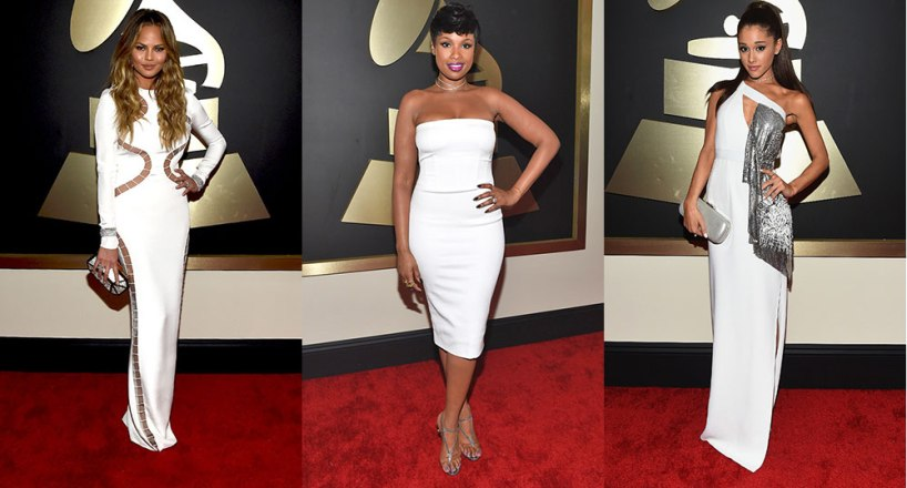 2015-Grammy-Awards-Red-Carpet-Chrissy-Teigen-Jennifer-Hudson-Ariana-Grande
