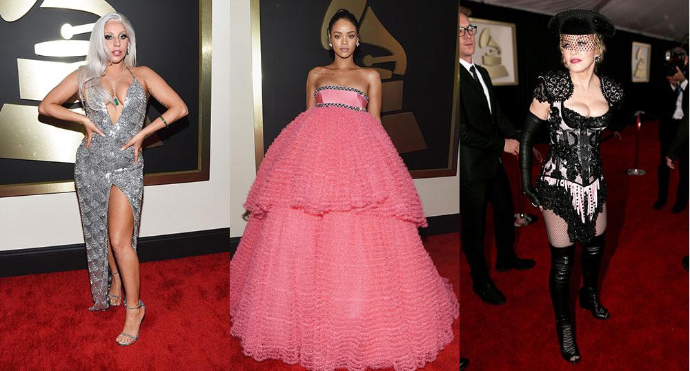 2015-Grammy-Awards-Red-Carpet-Lady-Gaga-Rihanna-Madonna