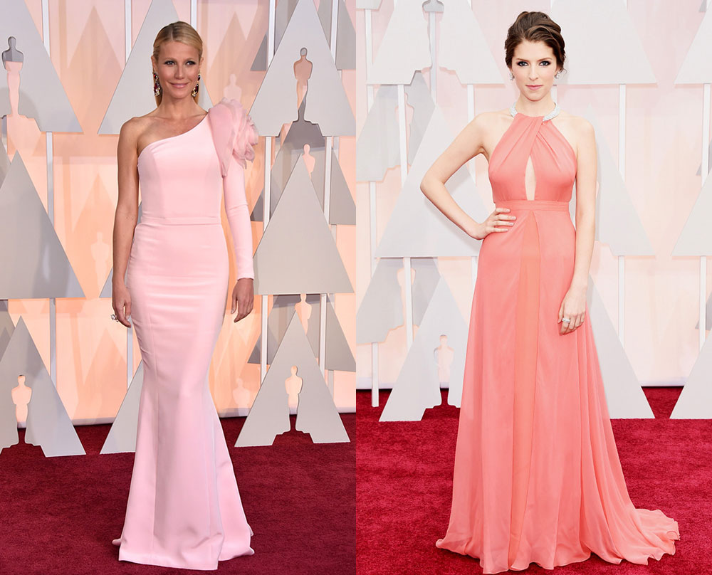 Pink-and-Coral-Toned-Dresses-2015-Academy-Awards-Oscars-Red-Carpet