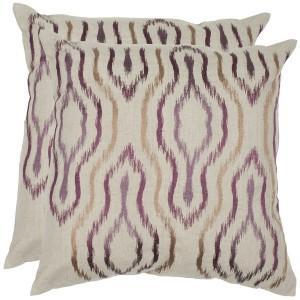 plum and linen pillows