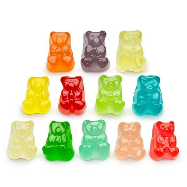 12-flavor-gummy-bears-group-lorentanuts Com Gummy Bears