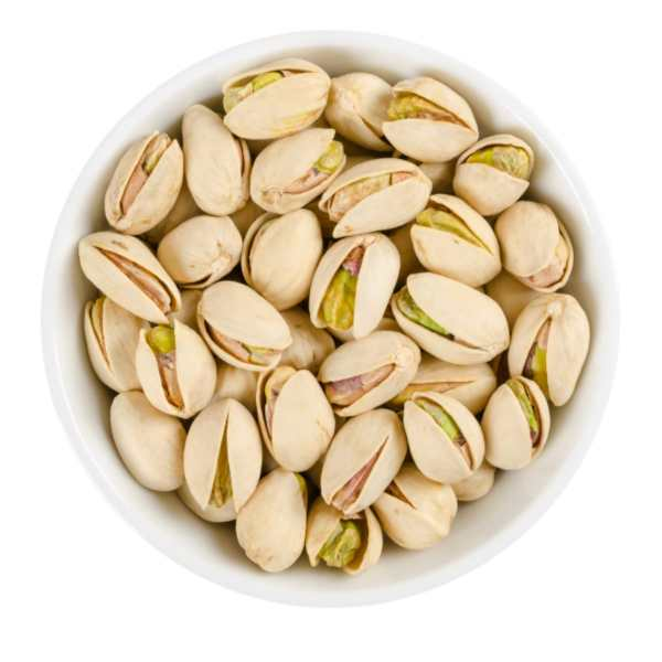 Pistachio-in-shell-in-bowl roasted pistachios