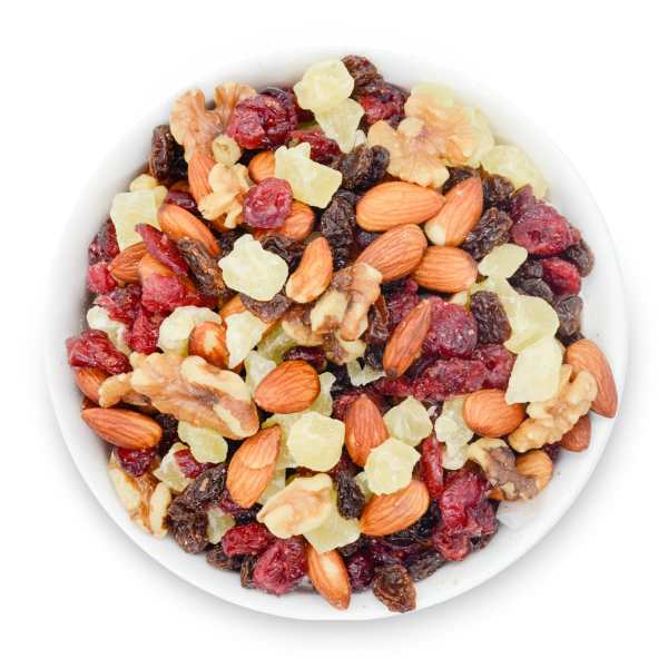 Berry-almond-bowl-top-view-www Lorentanuts Com Protein Punch