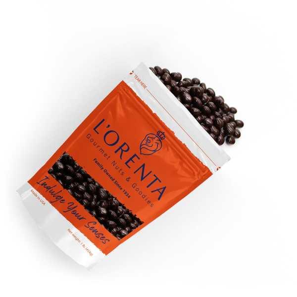 Dark-chocolate-espresso-beans-1-orange-bags-top-view-www Lorentanuts Com Jelly Belly Berry Blue