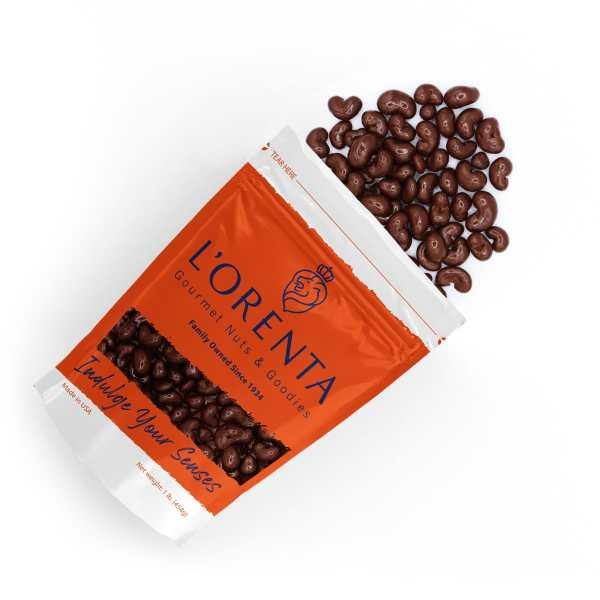Milk-chocolate-cashews-top-view-www Lorentanuts Com