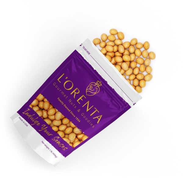Salted-caramel-almonds-top-view-www Lorentanuts Com