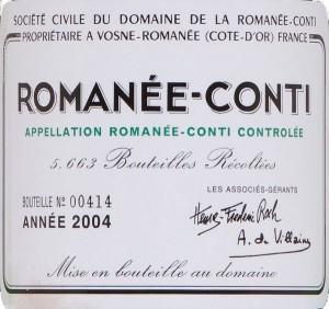Romanée-Conti etiket