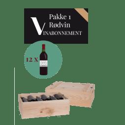 Vinabonnement: Pakke 1 - Rødvin